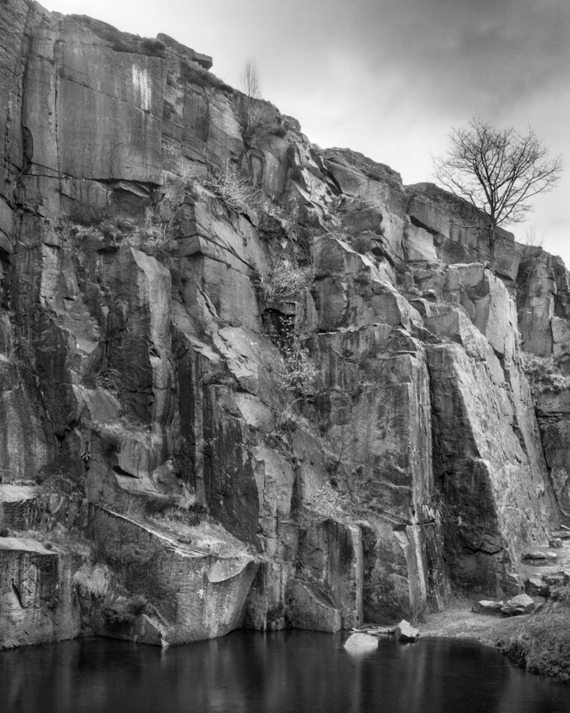 Rock Wall Bolehill Quarry Sheffield