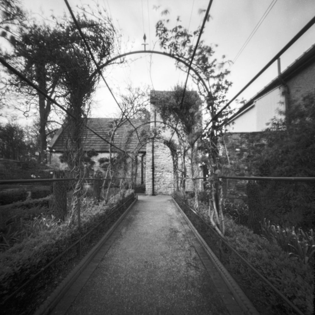 Pinhole photograph of Lady Isabella's Garden Cusworth Doncaster April 2017